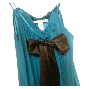 Diane Von Furstenberg silk halter blouse, size 2